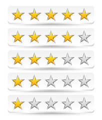Stylish star rating template