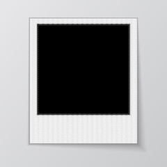 Blank photo frame isolated on white background.  Vector