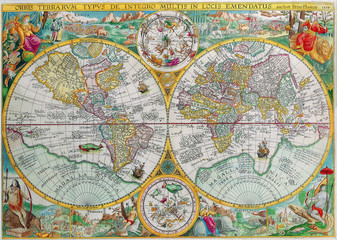World vintage map