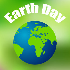 Earth Day on April 11 colored background vector