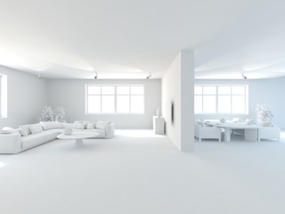 abstract grey interior design