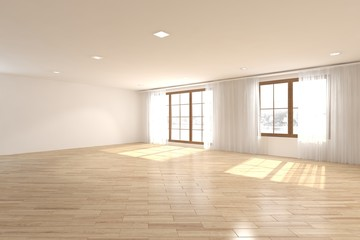 empty interior concept