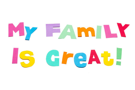 I Love My Family Photos Royalty Free Images Graphics Vectors Videos Adobe Stock