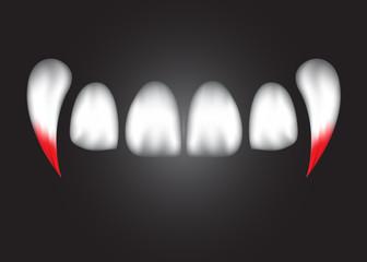 vampire teeth.
