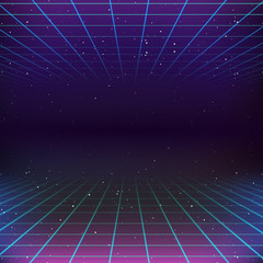 80s Retro Sci-Fi Background