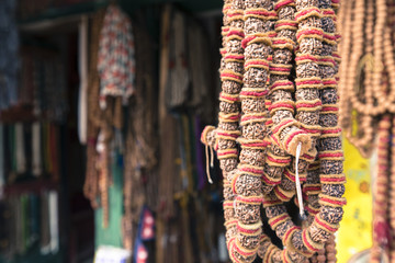 Traditional souvenir in local Nepal market.