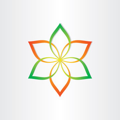 abstract flower icon design element