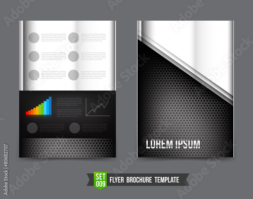 flyer brochure background template 0009 technology concept metal stock image and royalty free. Black Bedroom Furniture Sets. Home Design Ideas
