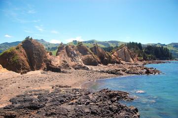 Rocks at stony coast area