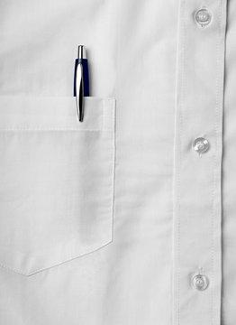 pen white shirt business