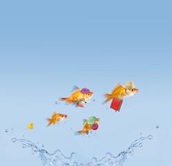 Goldfischfamilie