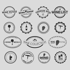 Set of vintage wine Logo