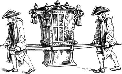 Vintage Illustration palanquin