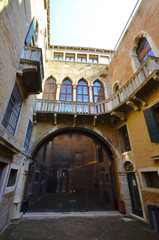 Beautiful architecture of the University school in Venice