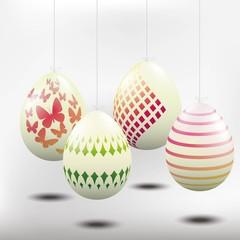 Easter eggs, white