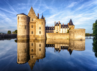 Fotobehang Kasteel The chateau (castle) of Sully-sur-Loire, France