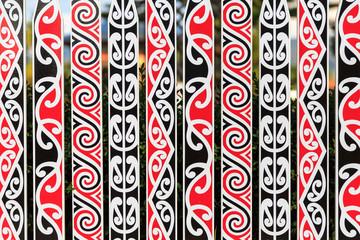 Ornate fance with Maori pattern