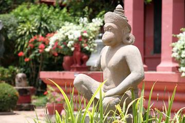 カンボジアの国立博物館のハヌマンの像