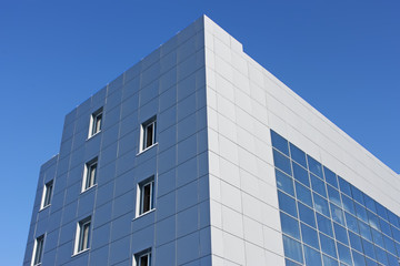 Upper part of the modern office building