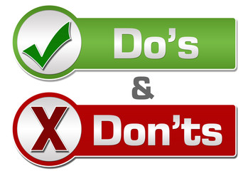 Dos Donts Red Green Button Style