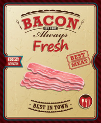Vintage bacon poster design