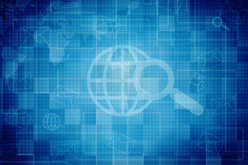 World Map Digital Abstract Business background