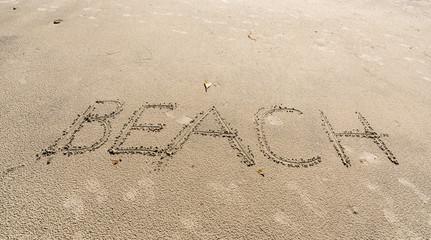 Beach signe