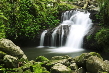 Waterfall in the gold coast hinterlands on the NSW border.