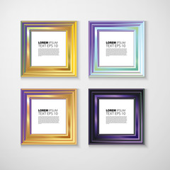 picture frame design vector  image  text
