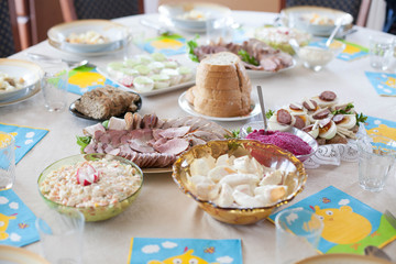 Easter Table- traditional Polish breakfast