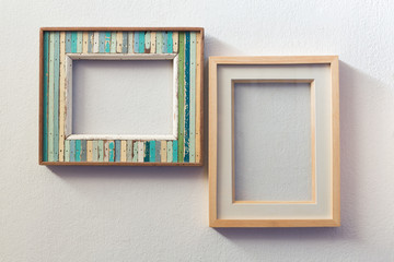 Retro style wooden picture frames