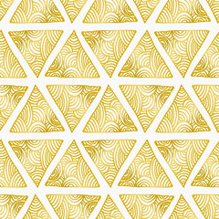 Fototapete - Abstract Triangles Seamless Pattern