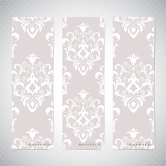 Collection vertical banners in the style of Baroque . Modern