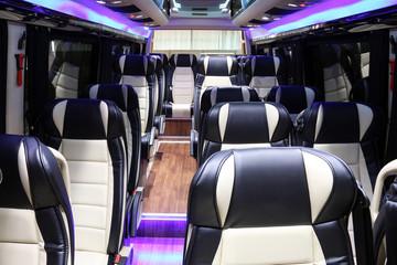 inside of new modern bus