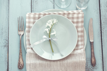 Shabby chic table setting