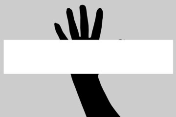 Vector silhouette of a hand.