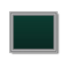 Picture metallic frame isolated on white background