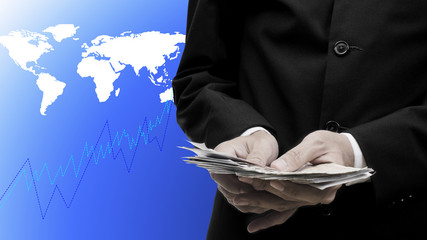 Make money from stock market concept