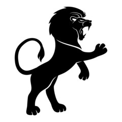 Vector sign. Lion.