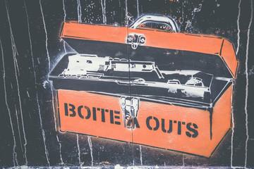 Graffiti boite à outs