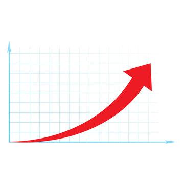 arrow diagram business up