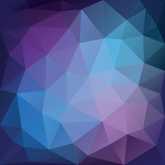 Blue and purple low polygon mosaic background