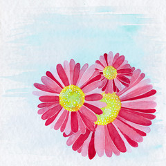 Flower Illustration Background
