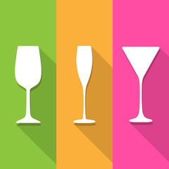 Wine glass icons great for any use. Vector EPS10.