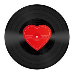 LP Record Vinyl Heart Love Song