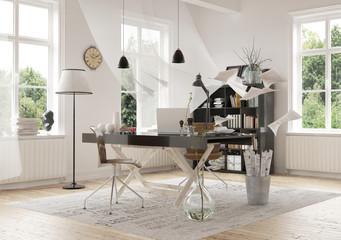 Contemporary Work Area Design Inside a Home