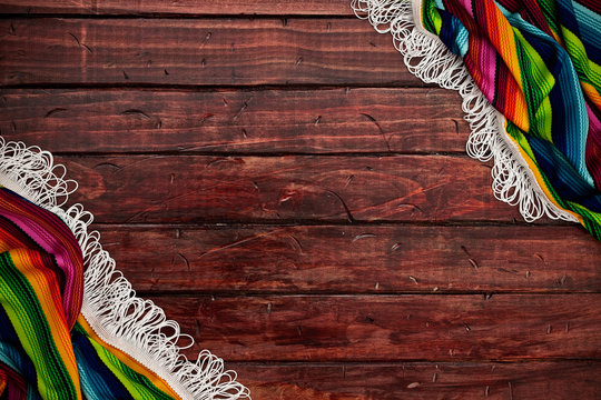 Background: Copyspace Surrounded with Serape