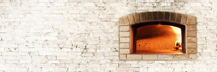 Foto op Canvas Pizzeria Traditional oven