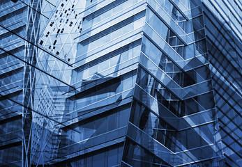 Fototapete - Reflection of modern tower