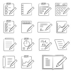 document and writing icons